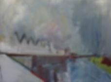 Contemporary art, mixed media, landscape, abstract art