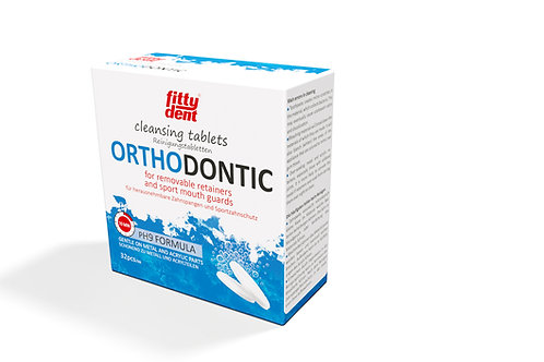 32 tablettes de nettoyage - pour gouttières occlusales et orthodontiques