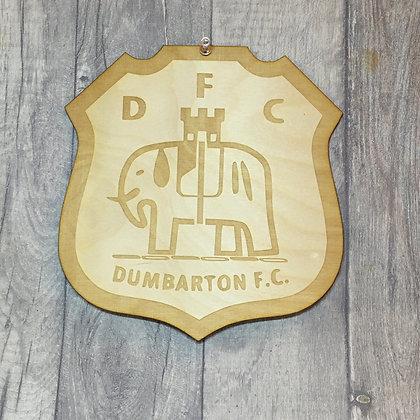 Dumbarton FC Laser Engraved Badge