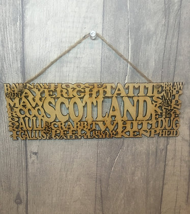Laser Cut Scotland Slang Sign