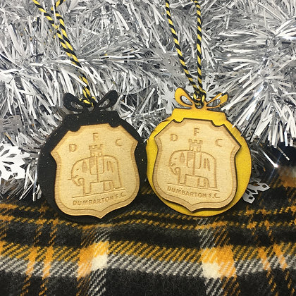 Dumbarton FC Badge Themed Christmas Bauble