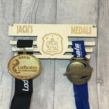 Personalised Dumbarton FC Medal Holder