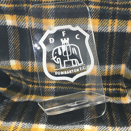 Dumbarton FC Acrylic Phone Holder