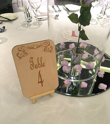 Rustic Laser Engraved Wedding Table Numbers