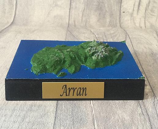 Arran 3D Relief contour map