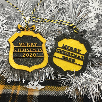 Dumbarton FC Themed Christmas Bauble