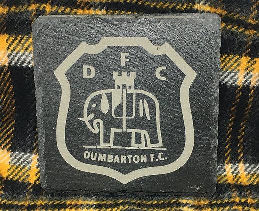 Dumbarton FC Badge Slate Coaster