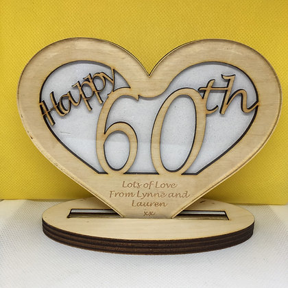 Personalised Birthday Heart with Engraving