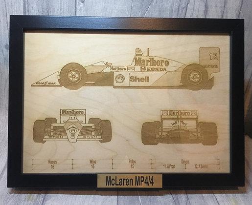 Laser Engraved F1 McLaren MP4/4