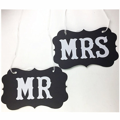 Mr & Mrs Photo Props Wedding Decoration