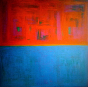 """Untitle (orange and Bleu)"", 2010"