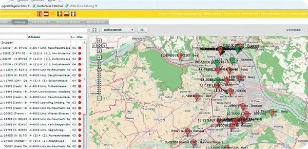 GPS Ortung und Überwachung für Fahrzeuge mit  Winterdienstlösung bei Steiner & Praschl. Zuverlässiges & rechtssicheres System. Überblick im Portal in Echtzeit