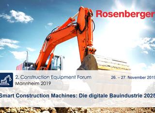 Treffen Sie uns beim Construction Equipment Forum in Mannheim