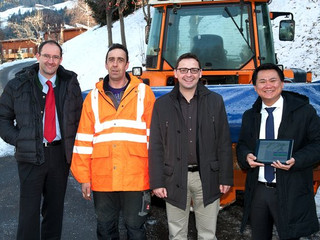 Snow clearing at the Brenner Pass with GPS solution from Timelkam