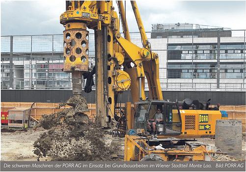 Rosenberger Telematics - GPS Tracking, GPS Ortung und Überwachung - Telematics für Baumaschinen bei PORR auf der Baustelle