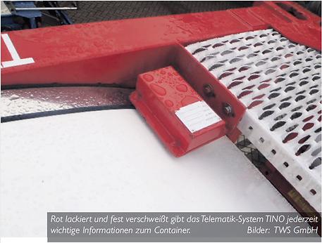 GPS Containertracking & Containerortung mit Rosenberger Telematics bei der TWS GmbH - für Container und Tankcontainer - fest verschweißt mit dem Container