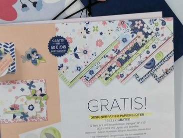 """Sale A Bration 2021: Designpapier """"Papierblüten"""""""