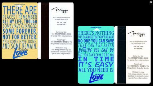 Beatles Love room keycard mockup