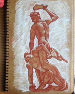cast drawings in sanguine #artschool #ar