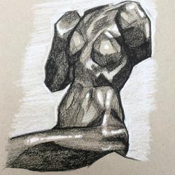 a Rodin torso at the v&a #instaartist #i
