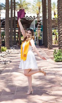 Eva Senior Portraits at Downtown Phoenix