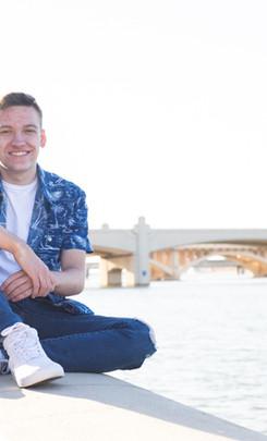 Blake Senior Portraits at Tempe Beach Pa