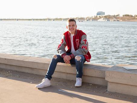 Blake's Graduation Portraits at Tempe Beach Park