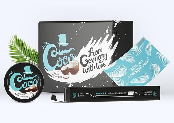 Дизайн логотипа и упаковок Mr Coco
