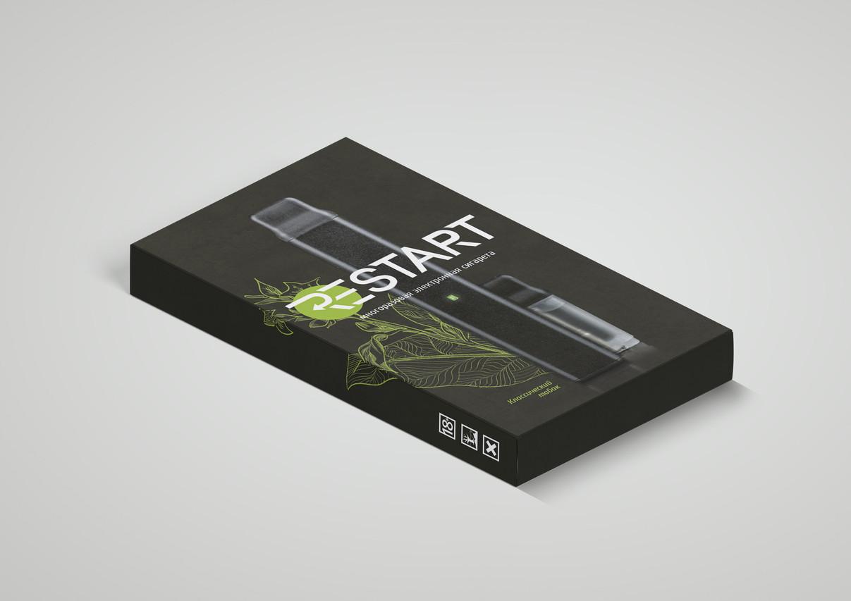 Дизайн упаковки для электронного парогенератора от Vardex