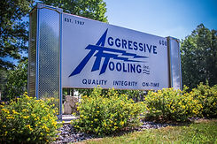 Aggressive Tooling outdoor company sign