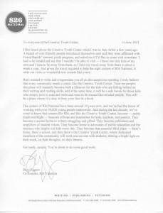 Dave Eggers Letter