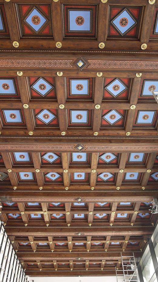 Strop kasetonowy Pałac Królewski Wrocław