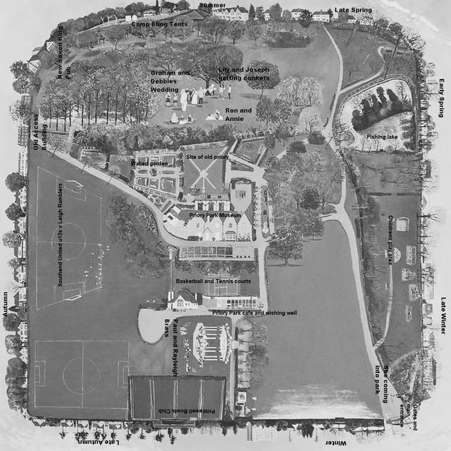 Priory Park Life map