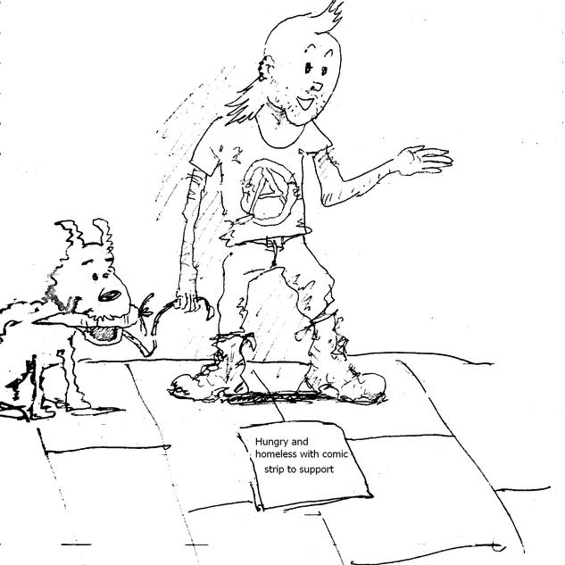 Tintin and snowy grunge version