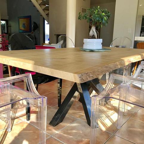 table acier