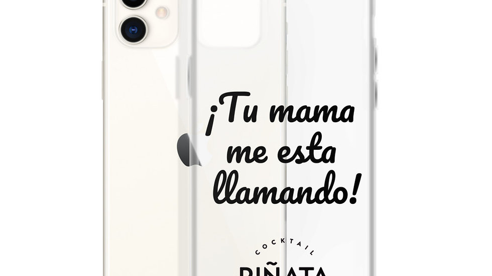 Carcasa iPhone Tu mama Negro