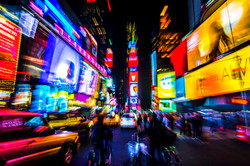 Colorful Times Square. New York, USA 2015