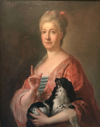 """©Atelier Béatrice Célié - Détail de restauration : """"La Dame au Petit chien"""""""