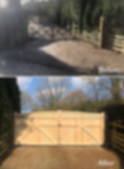 Pair of Softwood Harpford Driveway Gates