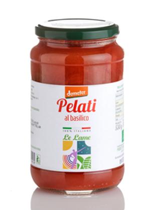Tomates pelées au basilic
