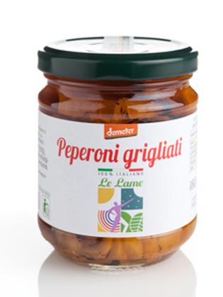 Poivrons grillés à l'huile d'olive extra vierge