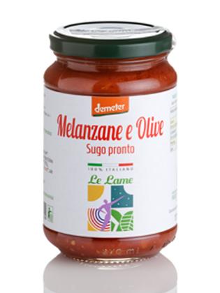 Sauce prête aux aubergines et aux olives