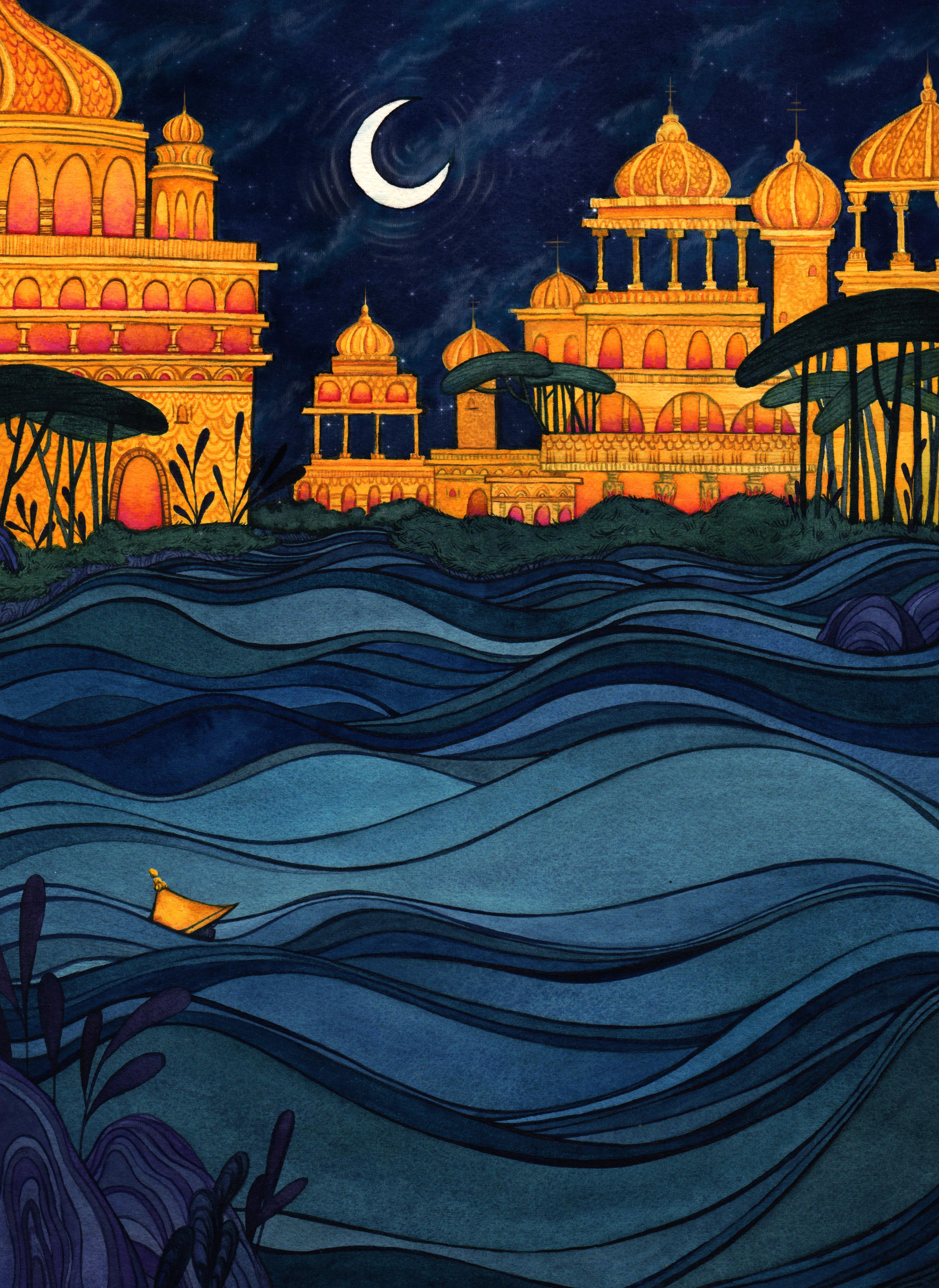 CITY LIGHTS MERMAID
