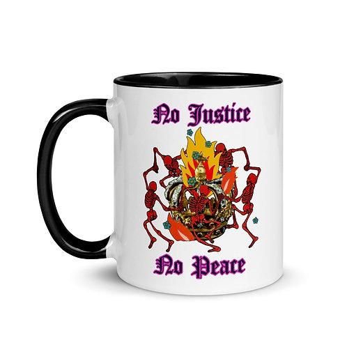 No Justice No Peace Mug with Color Inside