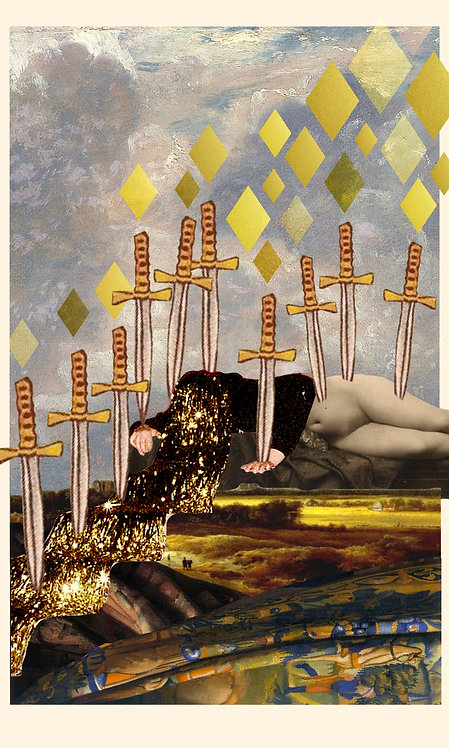 Ten of Swords- Fine Art Print
