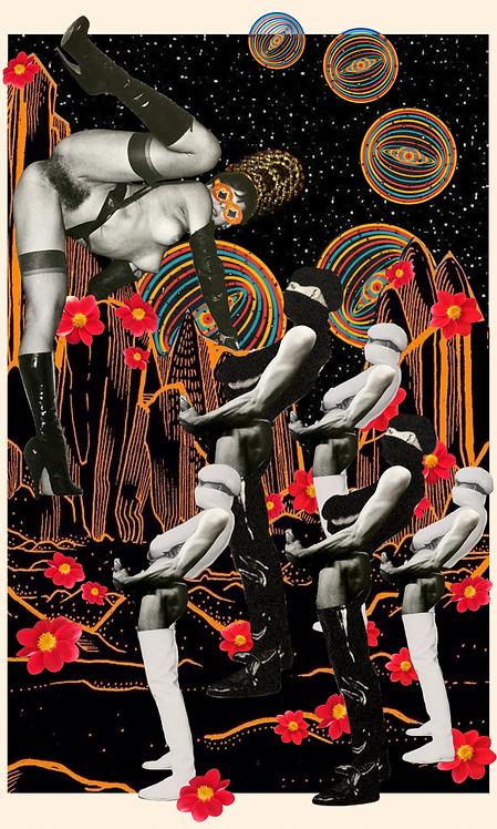 Five of Wands- Fine Art Print