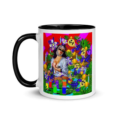 Lady Scorpion- Mug with Color Inside