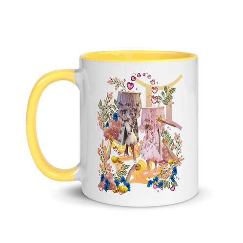 Gemini- Zodiac Series- Mug with Color Inside