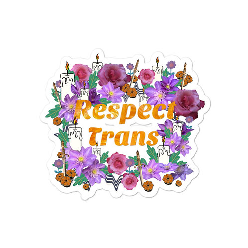 Respect Trans- visibiliT donation- Bubble-free stickers