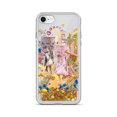 Gemini-  Zodiac Series- Liquid Glitter Phone Case